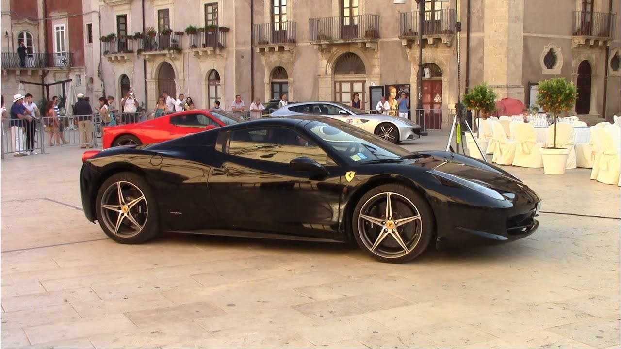 Black Ferrari 458 Spider Ferrari Cavalcade 2014 Hq Youtube