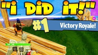 HELPING 9 YR OLD WIN *1ST EVER* FORTNITE GAME!!!