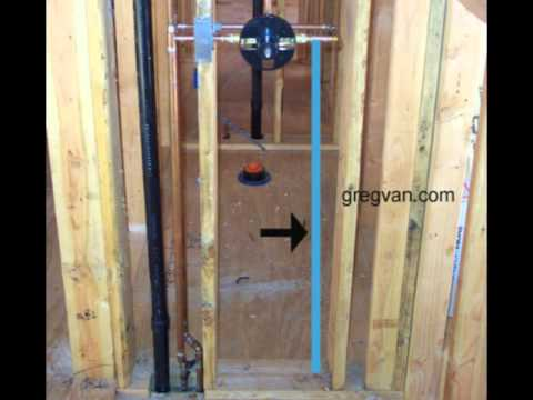House plumbing design water pipes and shower valve for Copper in shower water