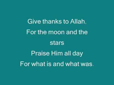 Zain Bhikha Give thanks To Allah Lyrics