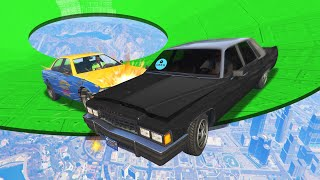 EXTREME TAXI vs. UBER DERBY CHALLENGE! (GTA 5 Funny Moments)