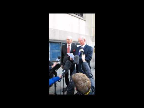 Trevor and Maurice Reeves react to the sentencing of riot arsonist Gordon Thompson