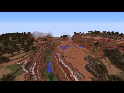 [1.7.5 Minecraft Seeds] Mesa Plateau Ravine Seed!