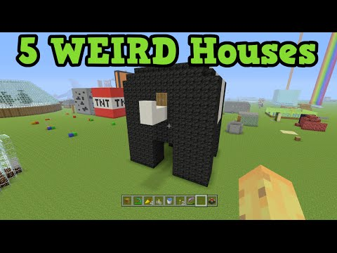Minecraft - 5 WEIRD House Ideas (House Tutorial)