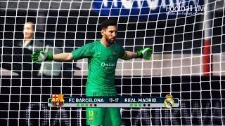 PES 2017 | goalkeeper MESSI vs goalkeeper RONALDO | Penalty Shootout | Barcelona vs Real Madrid