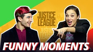 GAL GADOT IS A CHEATER - Justice League Cast Funny Moments - 2017