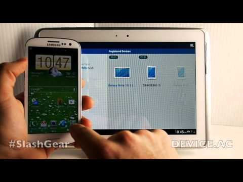 Samsung Galaxy Note 10.1 vs Galaxy S III AllShare hands-on