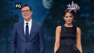 Stephen Colbert and Kate Beckinsale