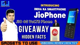 Giveaway Jio 4G VoLTE Phone, Hidden Facts About JIO ₹0 Smart Phone | Gadgets To Use