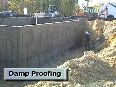 Moisture management in residential construction series for Basement foundations construction