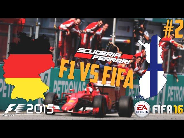 F1 vs FIFA - Ferrari F1 Team Battle FINLAND vs GERMANY! Episode 2