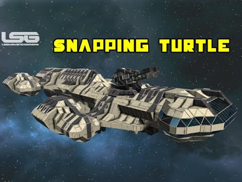 Space Engineers - The Snapping Turtle Battlecruiser. Under Construction