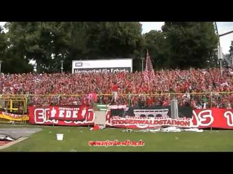 Erfurt - Jena Derbymarsch + Stadion Support  Erfordia ULTRAS