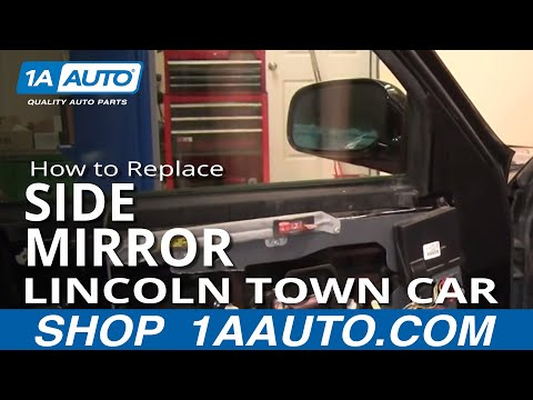 How To Install Replace Broken Side Rear View Mirror Lincoln Town Car 98-02 1AAuto.com