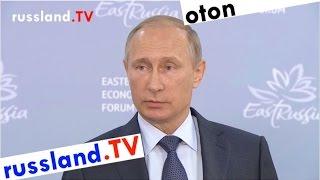 Präsident Putin äußert sich zur EU-Flüchtlingskrise (deutsch synchronisiert)