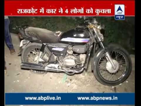 Four die as a car runs over them in Rajkot