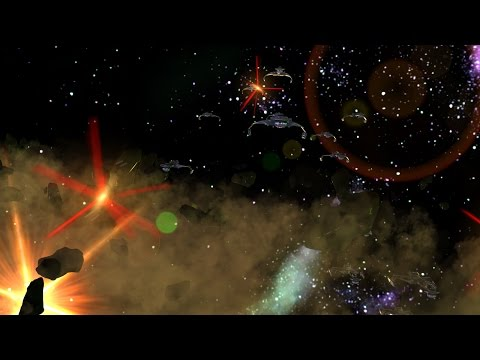 Triem Test 3D Particle Fleet Volley in Hitfilm Pro 3 (BETA)