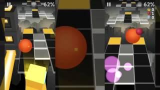 Rolling Sky - BONUS 4 (8-bit) All Gems(Left) + All Boxes(Right) path