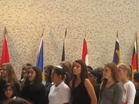 """Here Within My Heart"" sung by Woodlands Academy Choral Students - 05/21/2014"