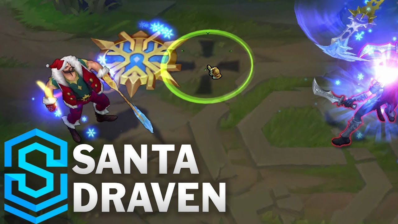 Santa Draven Skin Spotlight - Pre-Release - League of Legends