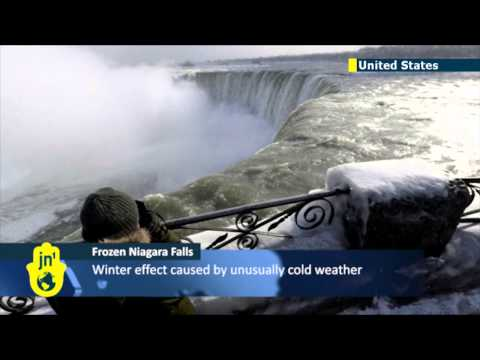 Frozen Niagara Falls: famous waterfalls freeze over amid polar vortex gripping North America