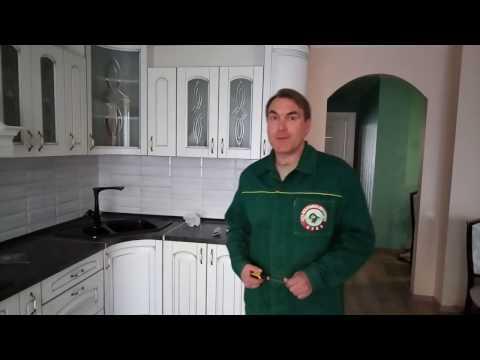 Белая кухня из массива дуба. Кухни массив на заказ в Москве.