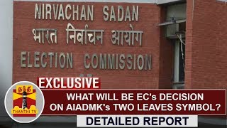 EXCLUSIVE | What will be EC's Decision on AIADMK's Two Leaves Symbol? | Thanthi TV