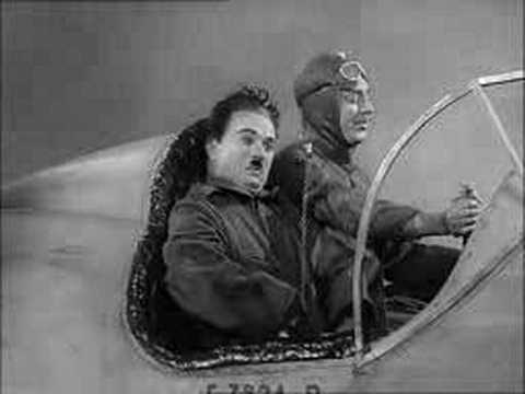Charlie Chaplin - The Great Dictator - in a plane