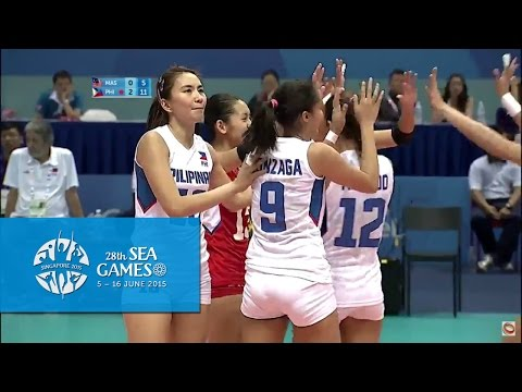 Volleyball Women's Malaysia vs Philippines | 28th SEA Games Singapore 2015