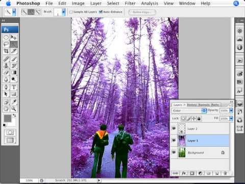 Learn Photoshop - How to Create a Mystical Forest Effect