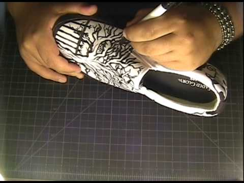 Drawing of Vans Shoes Shoe Art Freestyle Drawing