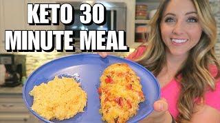 30 Minute Keto Meal: Hassleback Fajita Chicken & Cheesy Cauliflower Rice