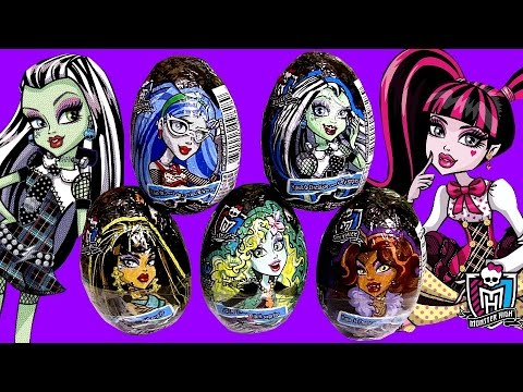Monster High Huevos-Sorpresa Halloween FrankieStein Draculaura Clawdeen Wolf Surprise Eggs