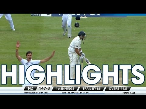 Highlights England v New Zealand - Day 2 Evening Session at Lord's