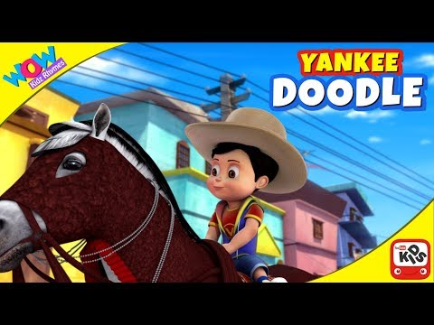 Yankee Doodle Went To Town | Nursery Rhymes | American patriotic song by WowKidz Rhymes