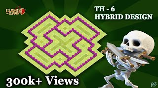 Download TOWN TOWN HALL LEVEL- 6 {TH-6} Best Hybrid Base। Clash Of Clans 3Gp Mp4