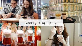 Weekly Vlog Ep.12  | 首爾日常約會, 夫妻繪畫實力PK, SM TOWN, 大理石氣墊實測 | OopsAnnieNini
