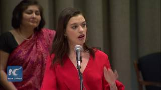 Anne Hathaway delivers Women's Day address at United Nations [Full Speech HD 1080p]