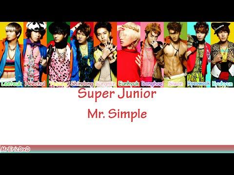 Super Junior (슈퍼 주니어): Mr. Simple Lyrics
