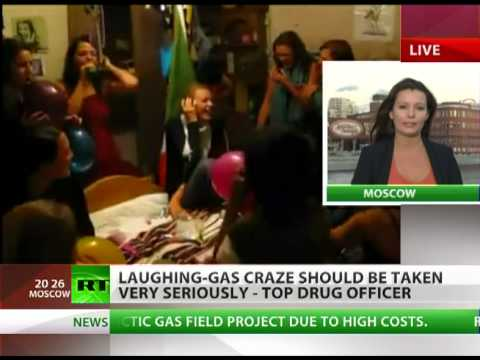 Laughing gas: Russians embrace potentially dangerous fun