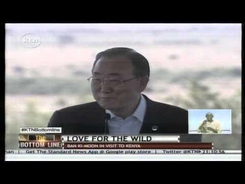 UN Sec. General Ban Ki Moon adopts a lioness at Nairobi National Park