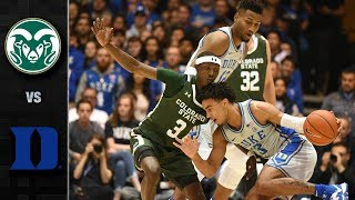 Colorado State vs. Duke Men's Basketball Highlights (2019-20)