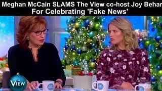 Meghan McCain SLAMS The View co-host Joy Behar For Celebrating