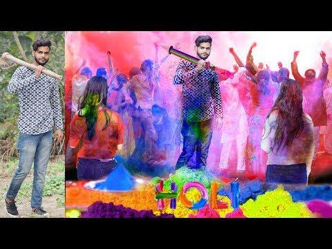Holi Photo Editing 2018 || Happy Holi photo editing || Picsart Holi special editing/picsart love2018