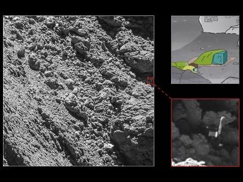 Ecco Philae che giace sulla cometa nelle immagini di Rosetta