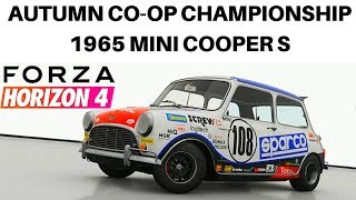 Forza Horizon 4 Autumn Co-Op Championship With 1965 Mini Cooper S In 4K