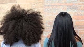INCREDIBLE HAIR TRANSFORMATIONS | FROM CURLY TO STRAIGHT HAIR | HOW TO STYLE CURLY HAIR