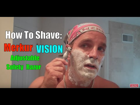 MERKUR VISION SAFETY RAZOR SHAVE: Review and Comparison Classic Shaving How To Old Fashioned Style