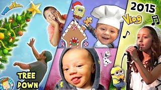 Funny Baby Faces / Giant Christmas Tree Down / Gingerbread Houses / FUNnel V 2015 Holiday Vlog