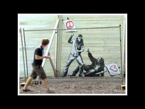 Street Artist Banksy - 2010 Graffiti Stencil Art - Warholian